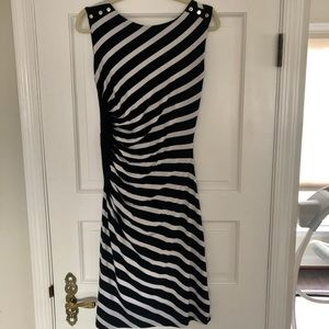 White House Black Market Fitted Stripe Dress